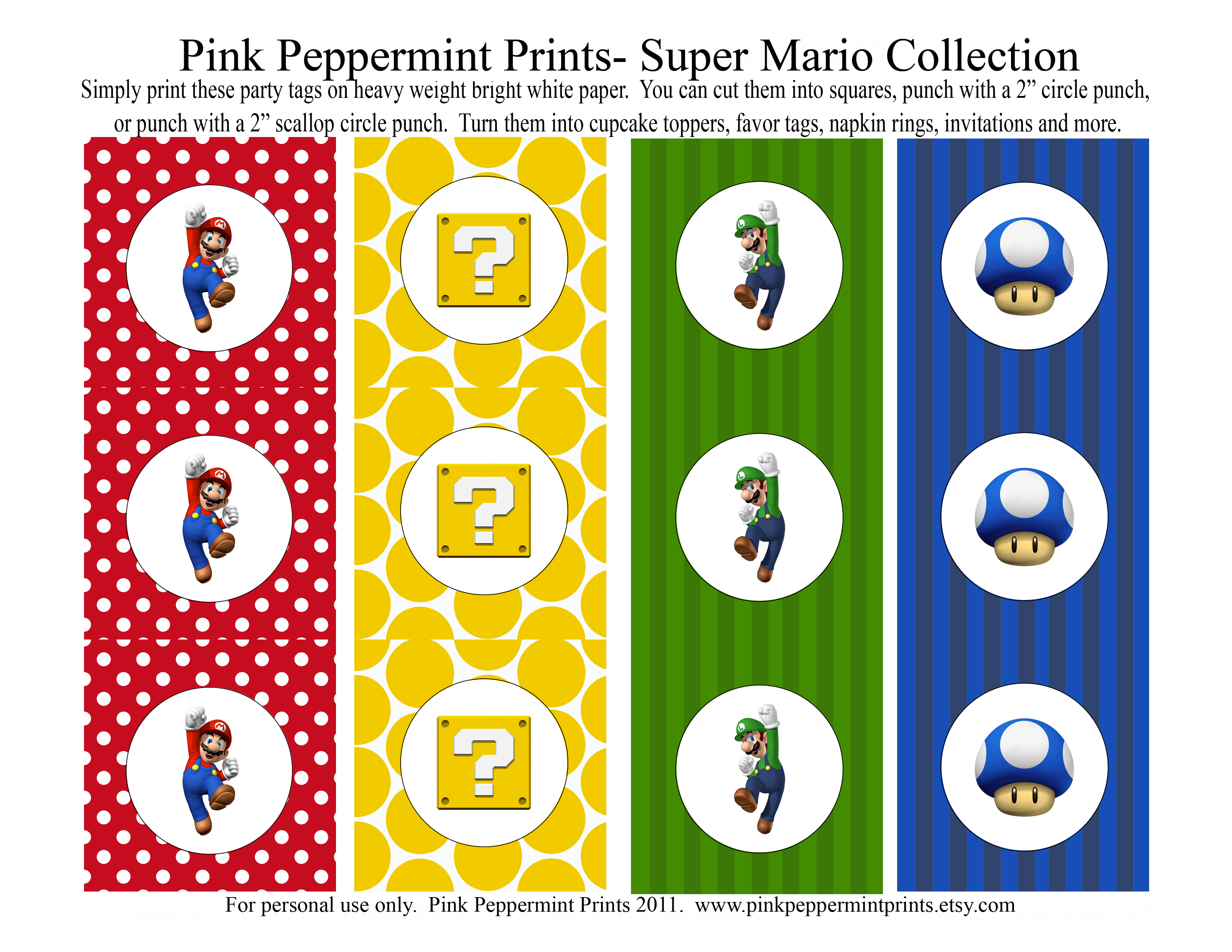 printable party sets pink peppermint prints u0026 parties party