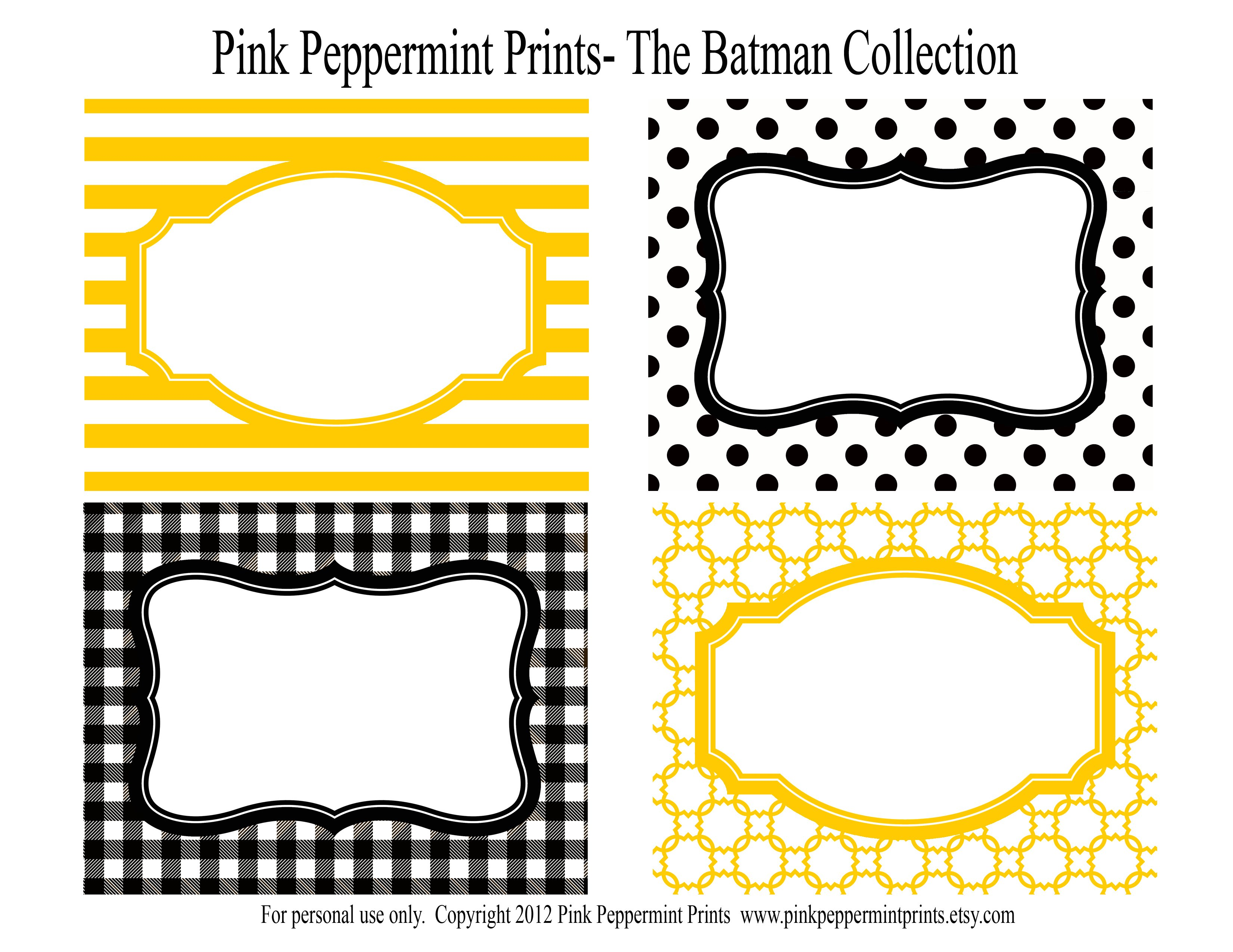 batman inspired printable party labels 6 50 pink peppermint