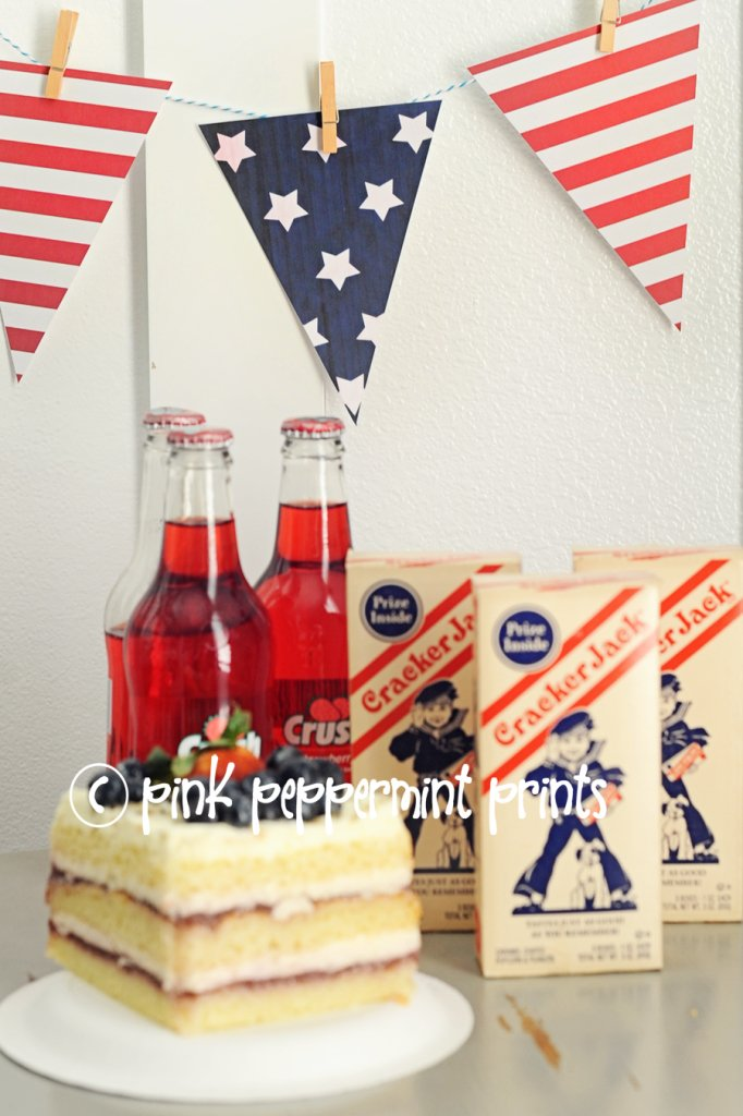 4th of july printable Pink Peppermint Design