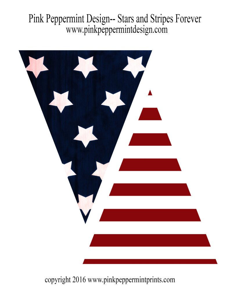 4th of July Printables Pink Peppermint Design