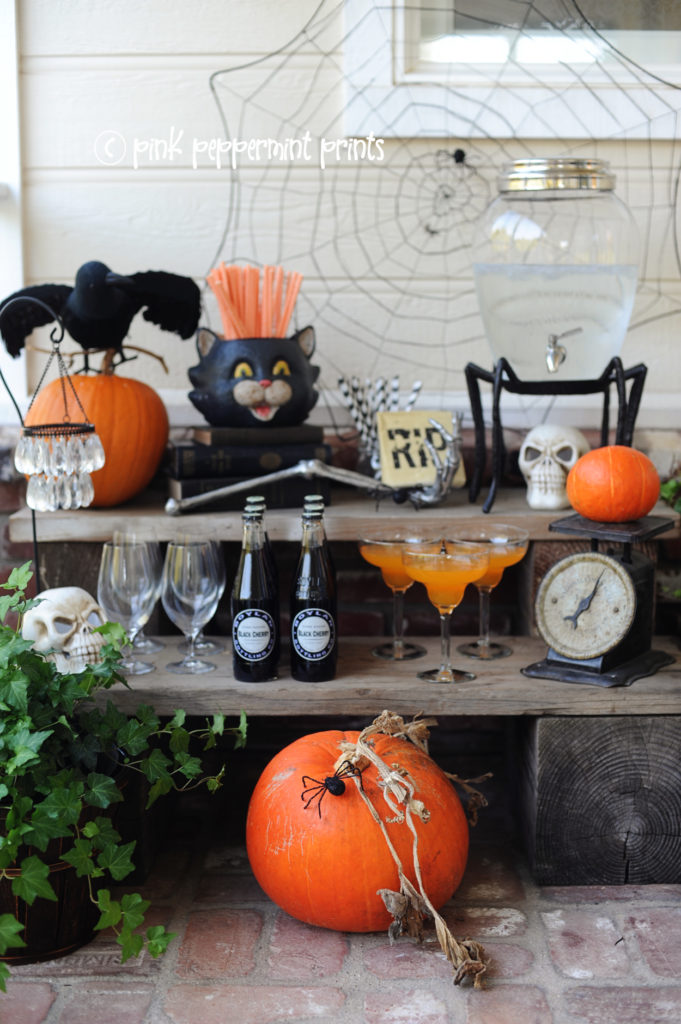 halloween party drink station