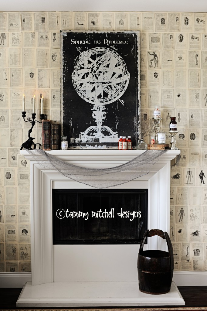 Haunted Hospital Theme Mantel by Tammy Mitchell