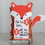 Free Printable Valentine: What Does the Fox Say?
