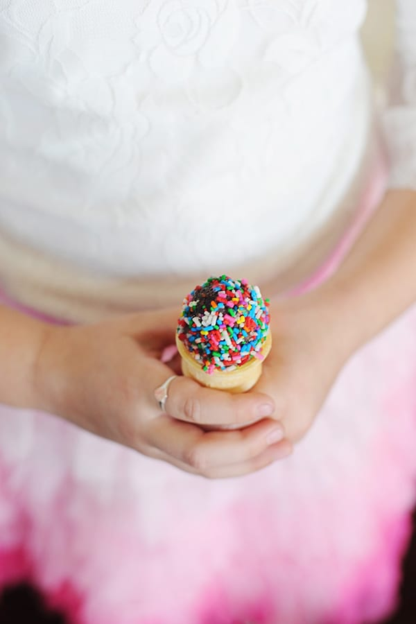Mini ice cream cones
