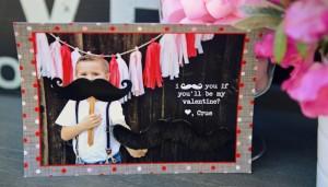 Mustache valentine blog header