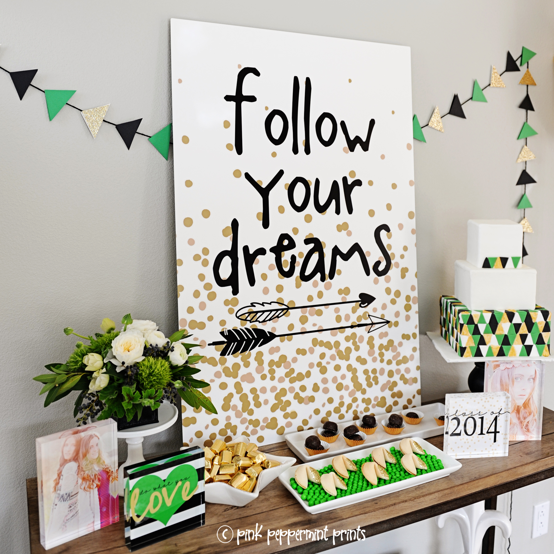 Graduation Party Ideas : Follow Your Dreams - Pink Peppermint Design