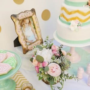 Entertain: Pink, Gold and Mint Baptism Party