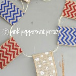 DIY: How to Make a Wired Ribbon Pennant Banner