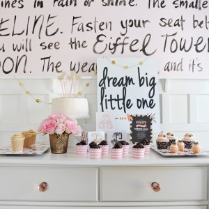 Sweet Pink Confetti Baby Shower with Shutterfly