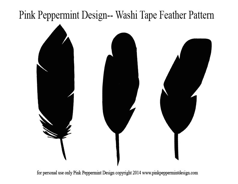 Washi Tape Feather Pattern Pink Peppermint Design copy