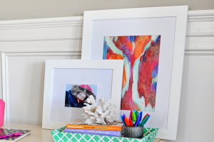 Interior Design: DIY Turning Canvas Art into Framed Art for Your Home