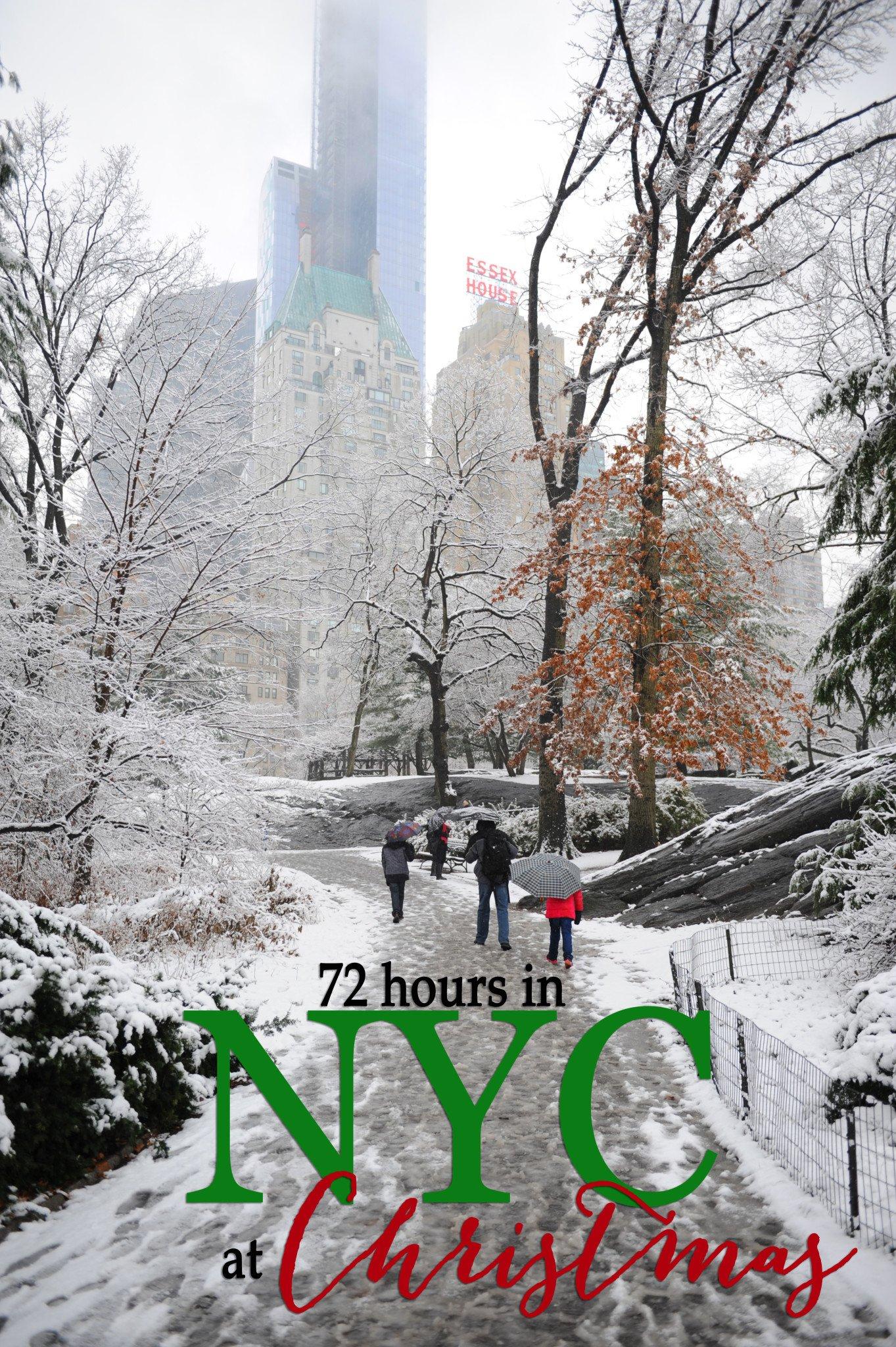 new york at christmas time