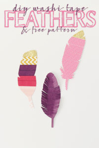 DIY Washi Tape Feathers a Cute Fall Craft