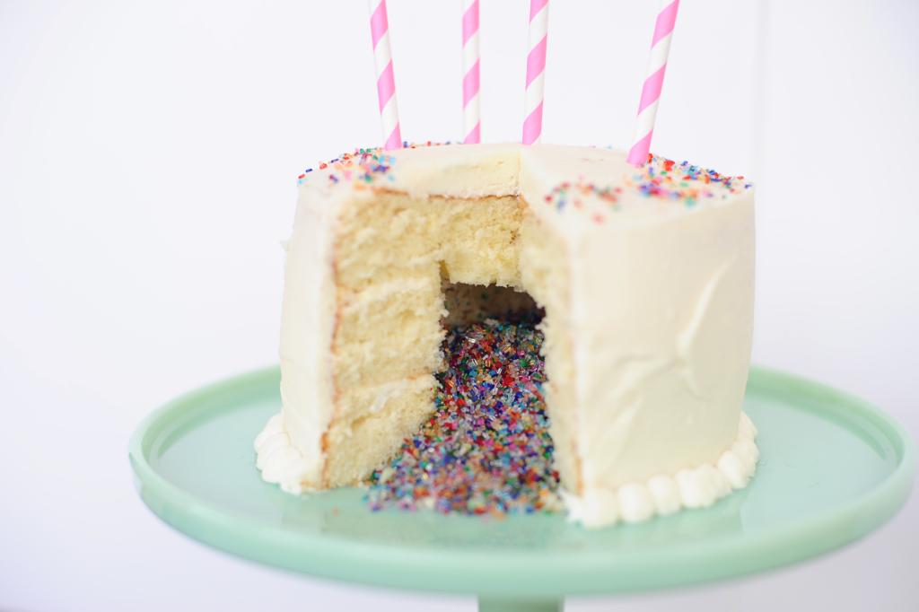 confetti cake new year's eve dessert idea Pink Peppermint Design