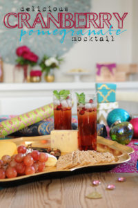 Christmas Party Drink Recipes- Cranberry Pomegranate Mocktail