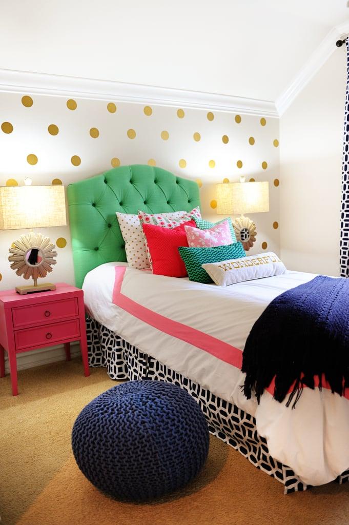 Tween Girl Bedroom Ideas : Preppy Teen Girl Bedroom in Pink, Navy ...