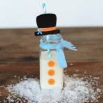 DIY Disney Frozen Party Ideas : Olaf Inspired Snowman Party Drink Bottles