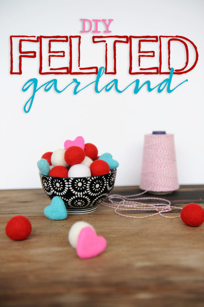 DIY Felted Garland Idea by Tammy Mitchell