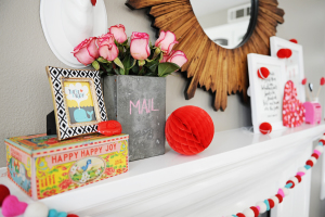 Cute Valentine Art from Minted and How to Decorate a Valentine Mantel