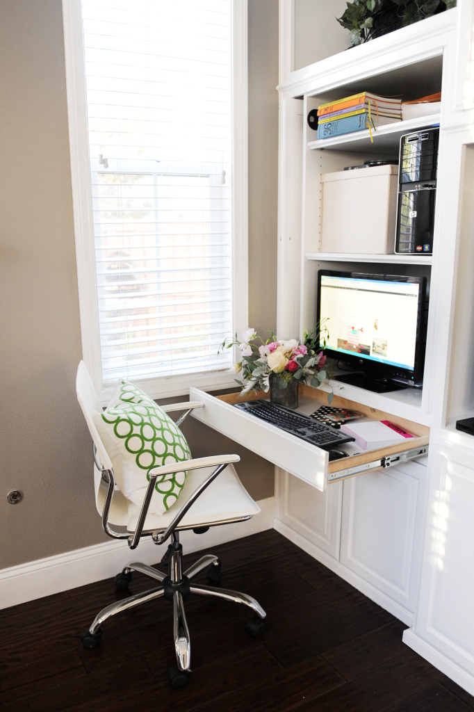 create a family room office nook