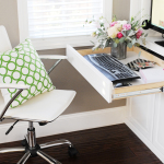 Create a Family Room Office Nook in a small space