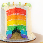 Easy to Make Magically Delicious Rainbow Cake