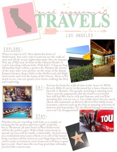 Pink Peppermint Travels: Los Angeles Travel Guide