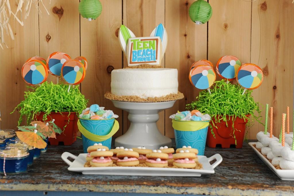 disney teen beach movie kids party ideas clam cookies DIY