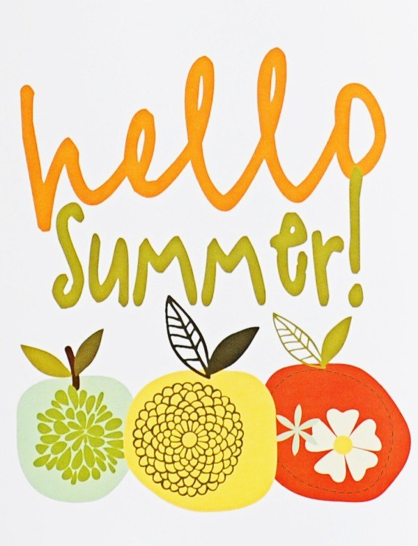 hello summer free printable
