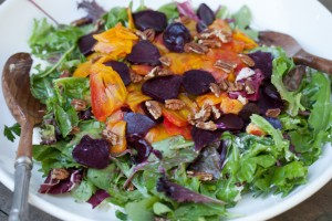 Roasted Beets and Goat Cheese Salad with a Grapefruit Vinaigrette