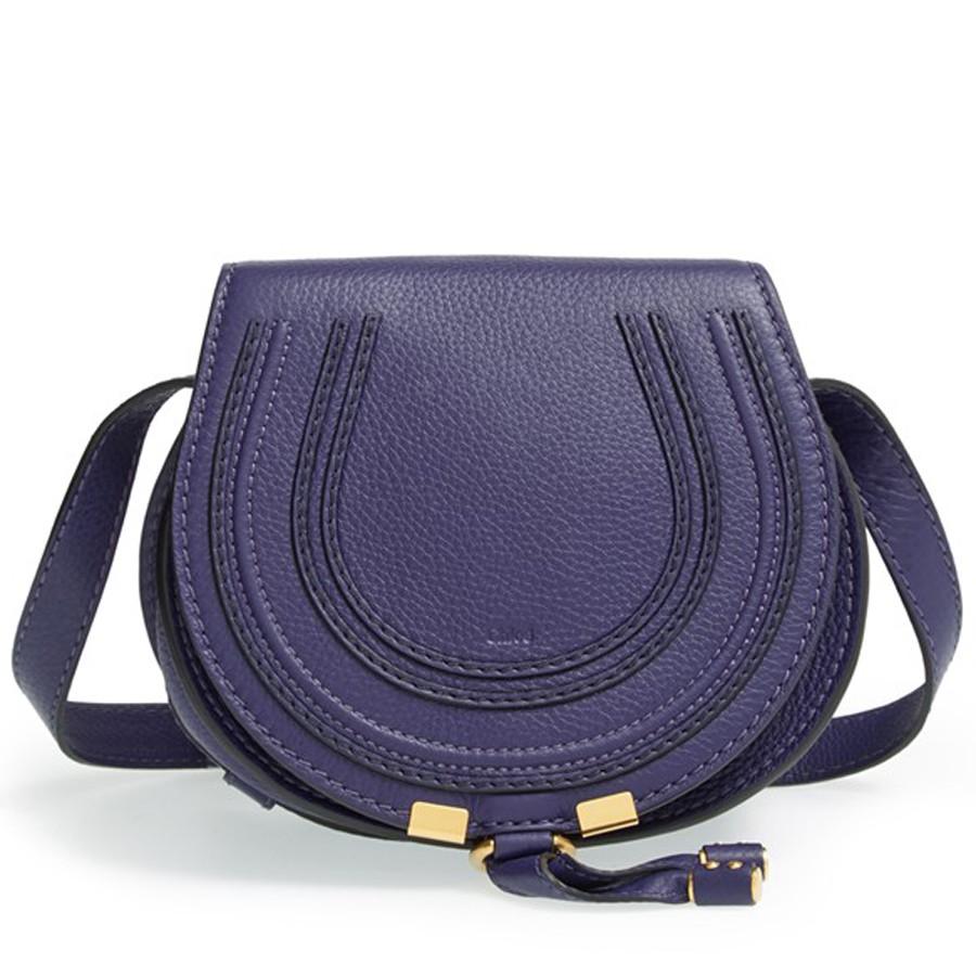 purple chloe saddle bag from nordstrom