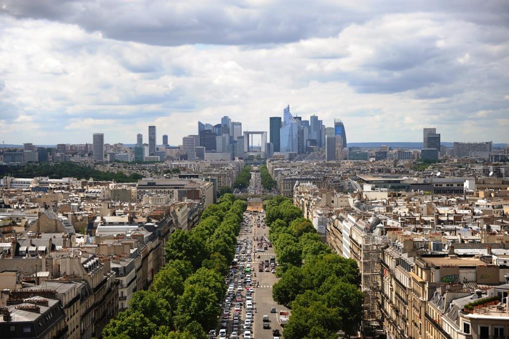 the best panoramic view spots in Paris the Arc de Triumphe