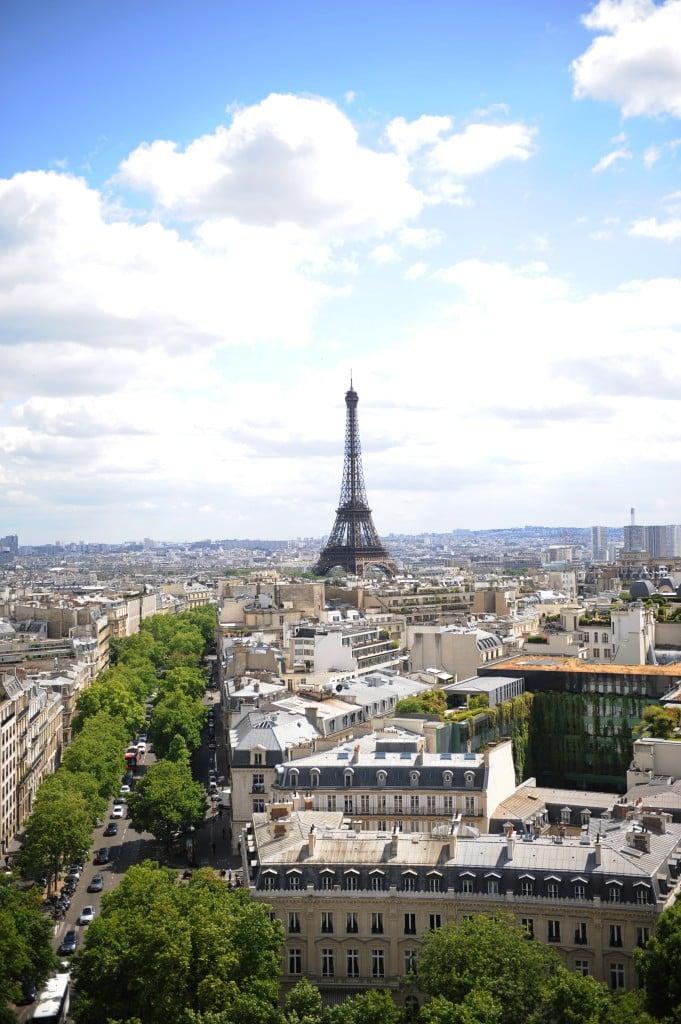 best view in Paris the Arc de Triumphe