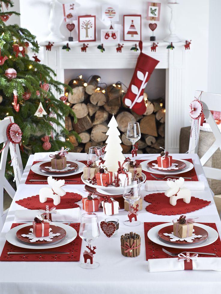 christmas table setting ideas & Ideas for a beautiful Christmas Table Setting - Pink Peppermint Design