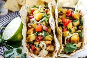 Recipe for The Most Delicious Chili Lime Chicken Tacos