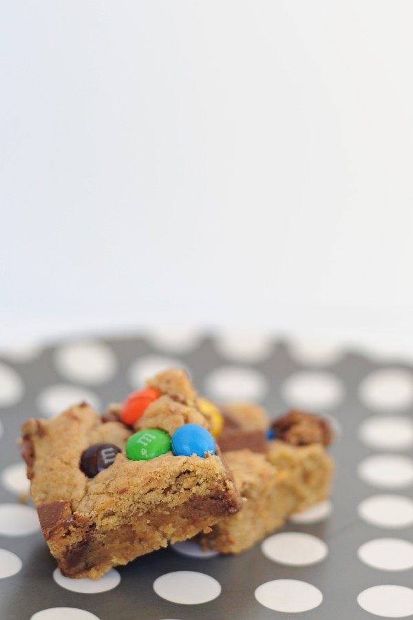 Halloween Candy Blondies
