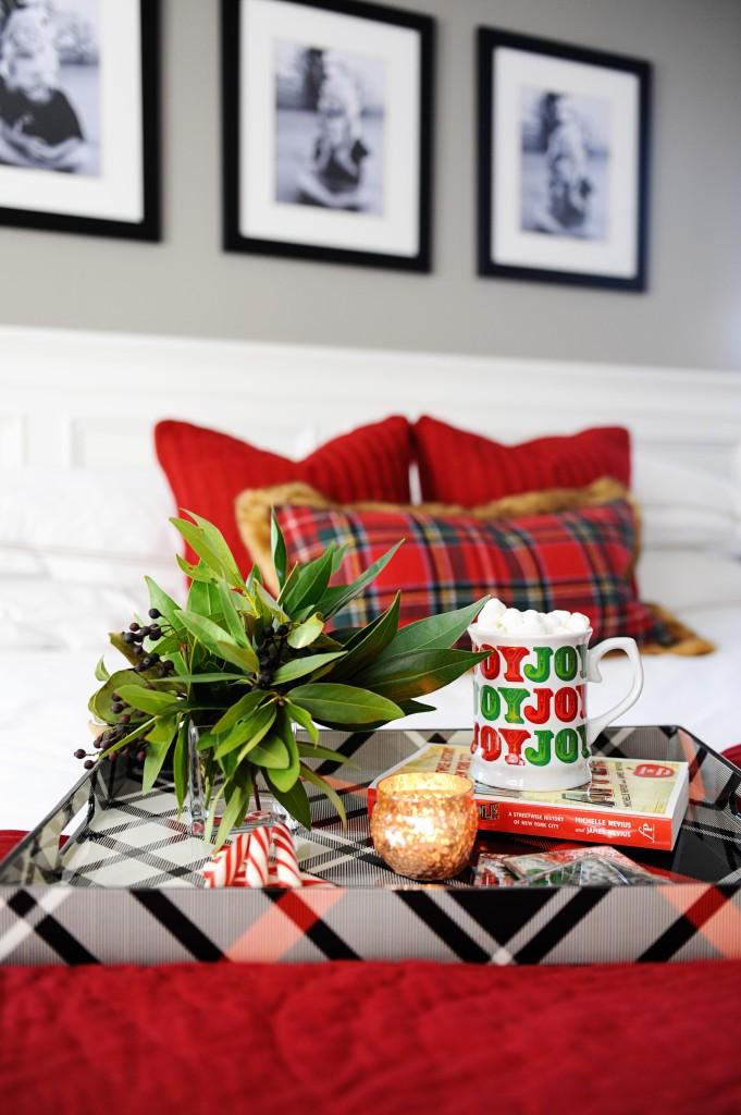 christmas master bedroom makeover holiday bedding