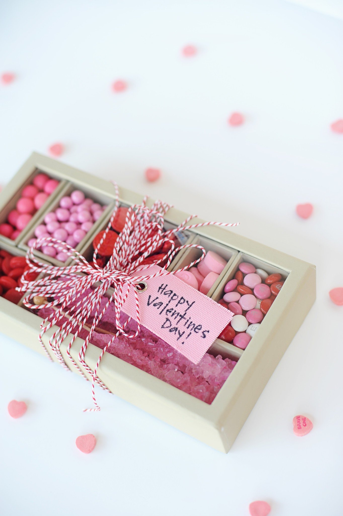 Super Cute DIY Valentines Candy Gift Box Craft (Red & Pink)