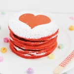 Make these Easy Red Valentine Heart Pancakes