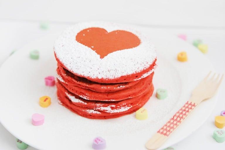 Heart pancake header