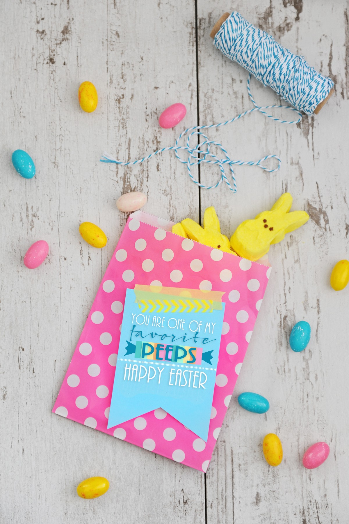 Cute And Easy To Make Easter Peeps Favors And Free Printable Pink Peppermint Design