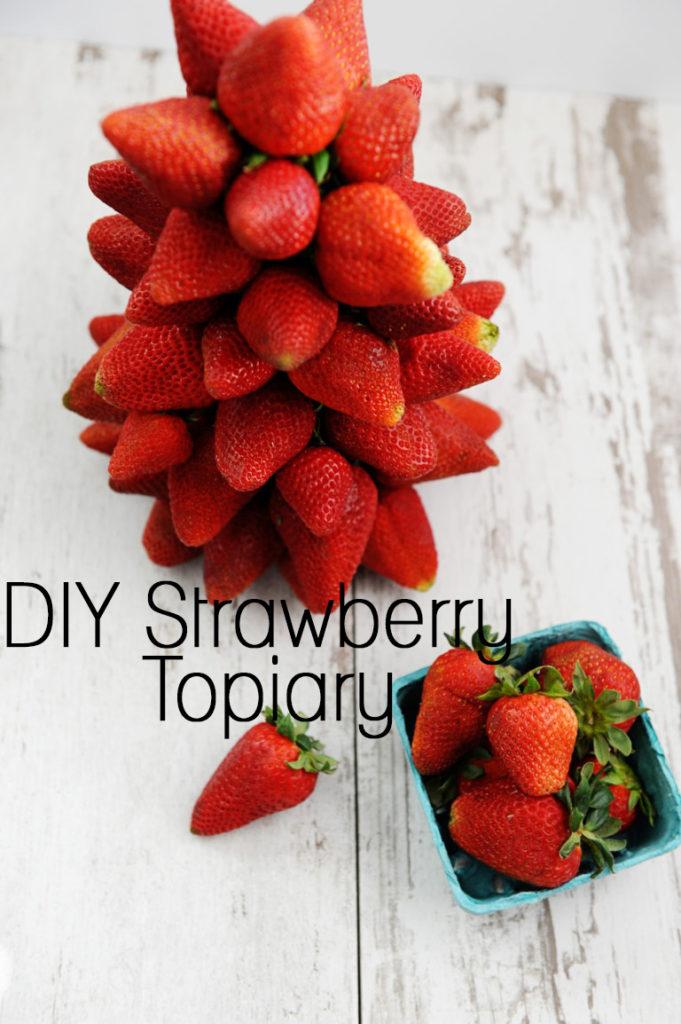 DIY Strawberry Topiary