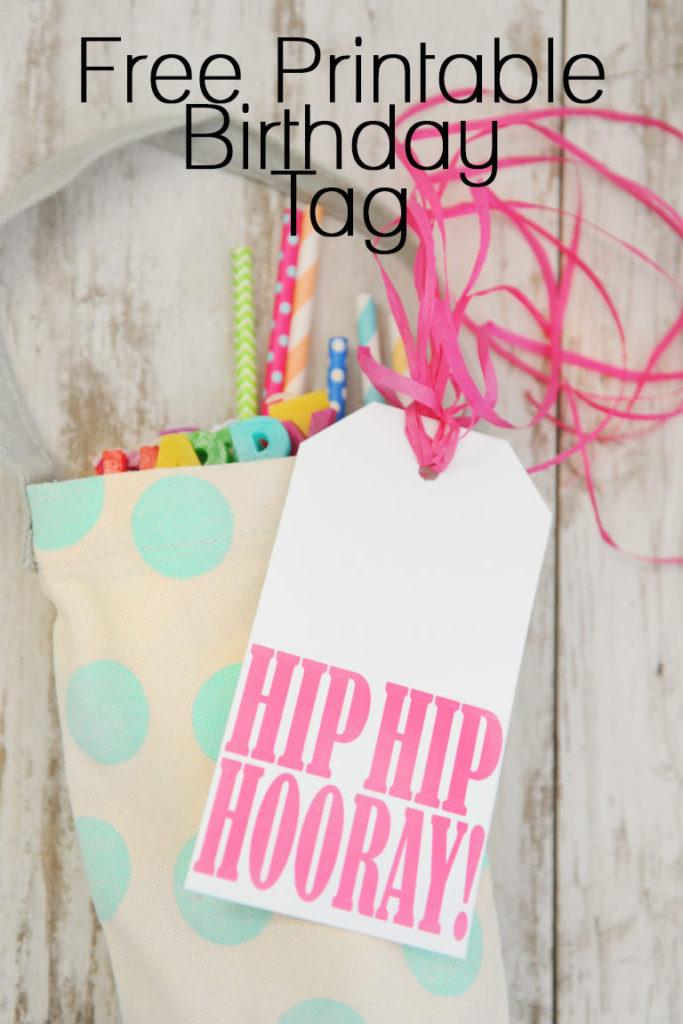 free printable birthday tag