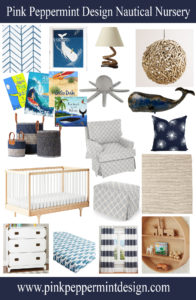 Inspiration Board for a Cute Nautical Nursery Design