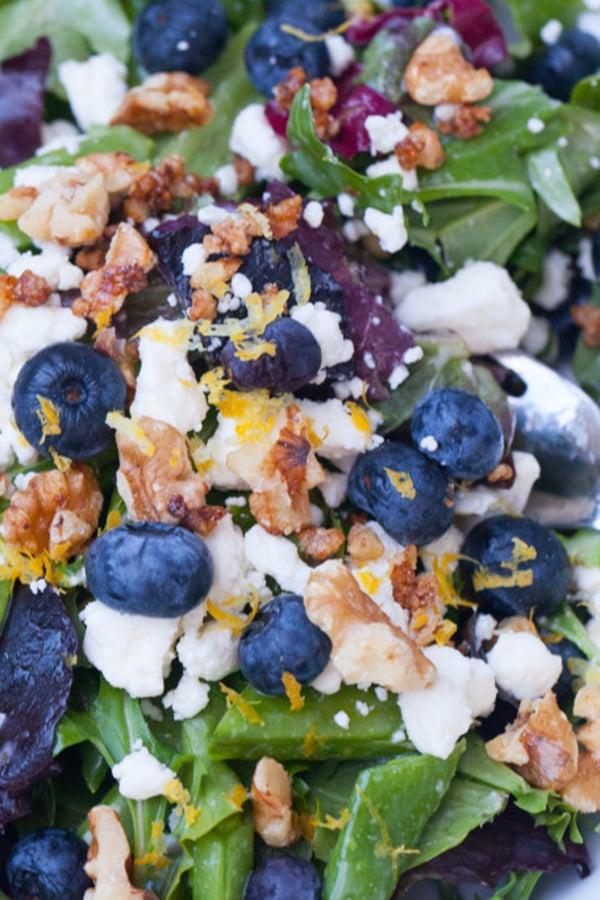 Lemon blueberry salad