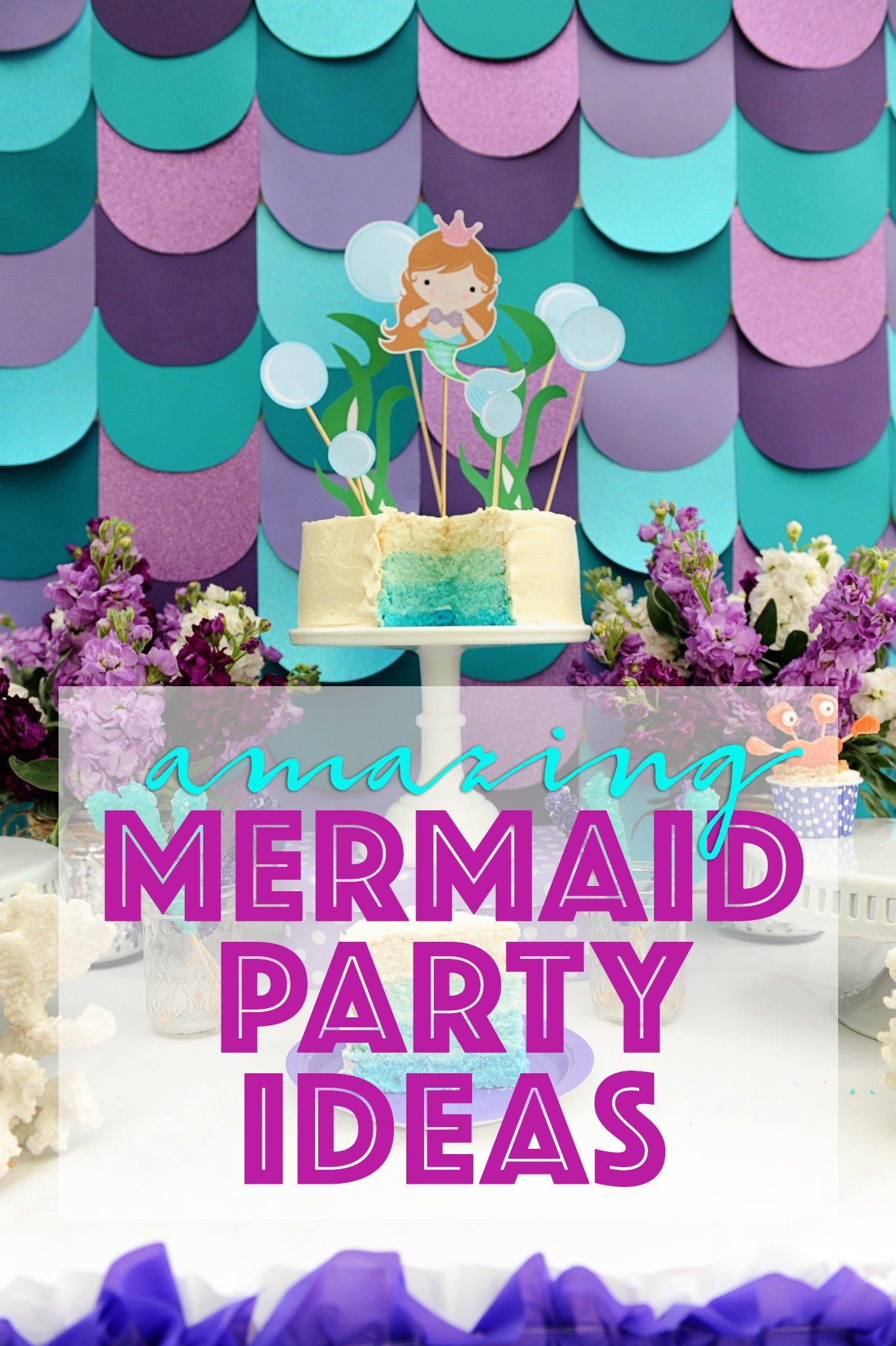 Mermaid Birthday Pool Party Ideas Diy