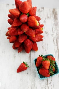 An Easy Strawberry Dessert : How to Make a Strawberry Topiary
