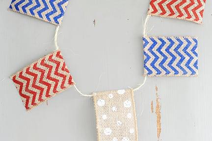 patriotic DIY banner