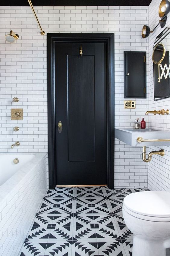 Etonnant Patterned Bathroom Floor Tiles. Via Style At Home. Via Dulux
