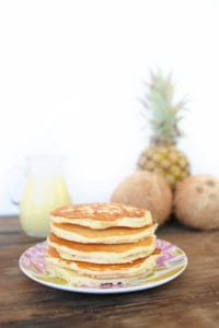 Coconut Pineapple Pancakes Recipe with Coconut Syrup